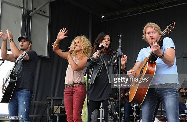 Little Big Town's Jimi Westbrook Kimberly Schlapman Karen Fairchild and Phillip Sweet at the 6th Annual TJ Martell Foundation Ride For The Cure...