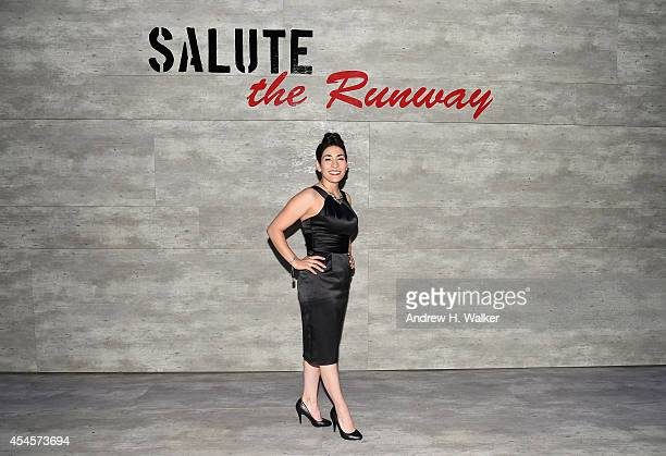 Little Black Dress Wines Winemaker Zidanelia Arcidiacono attends the Salute The Runway fashion show sponsored by Little Black Dress Wines Fatigues To...