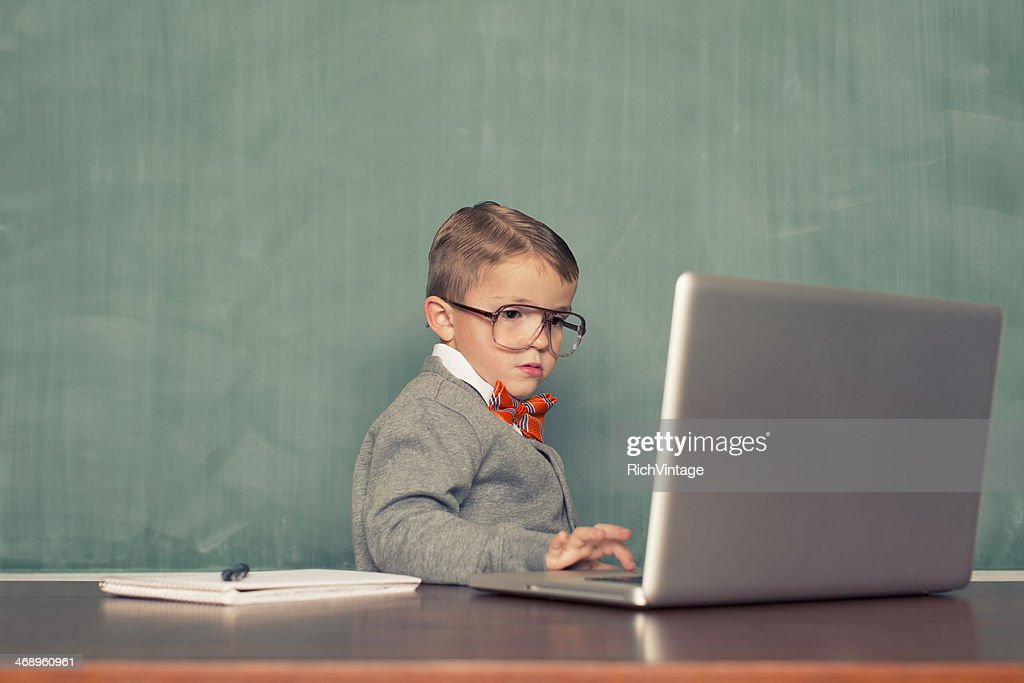 Little Blogger : Stock Photo
