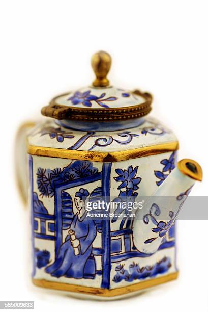 Little blue and white Chinese teapot