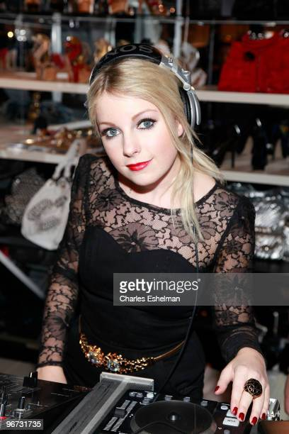 Little Boots attends the Bebe Soho store launch on February 15 2010 in New York City
