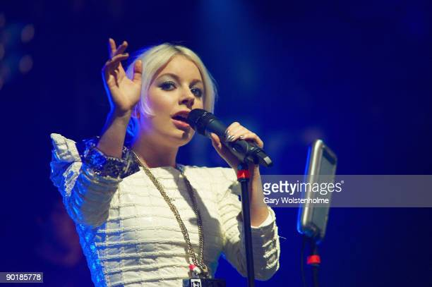Little Boots performs on stage on the last day of Leeds Festival at Bramham Park on August 30 2009 in Leeds England