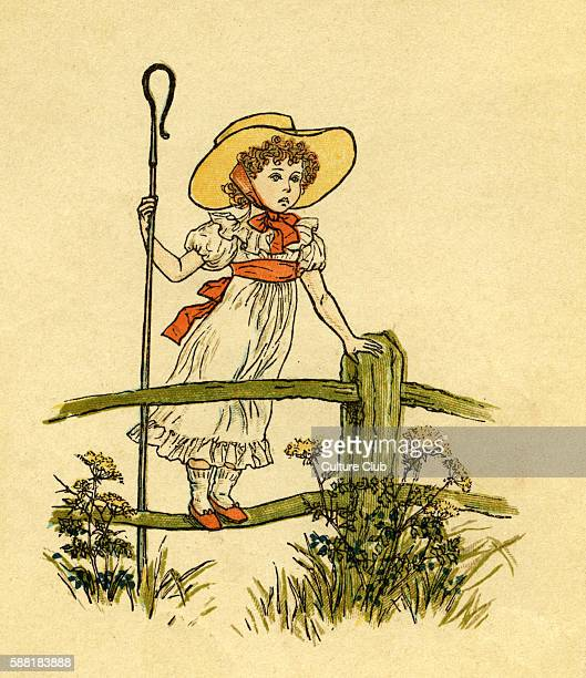 Little Bopeep has lost her sheep illustrated by Kate Greenaway English children s book illustrator and authoress 17 March 1846 6 November 1901 from...