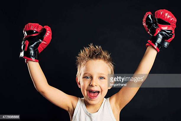 little boxer victory - funny boxing stock photos and pictures