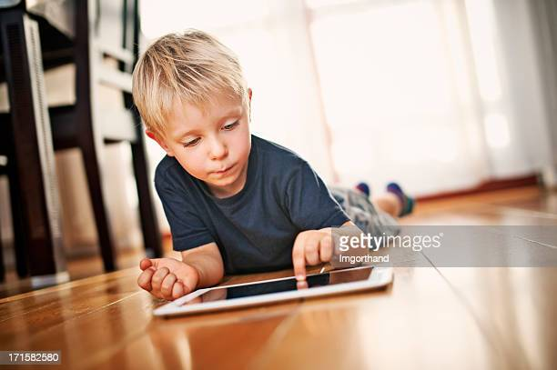 Little boy and a tablet