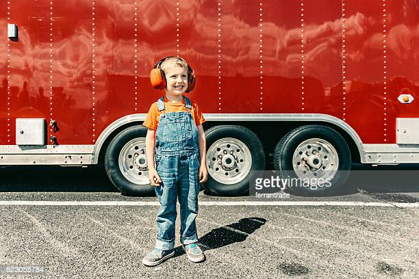Little boy at a Car Race