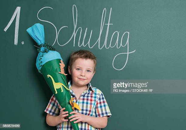Little boy at first day of school