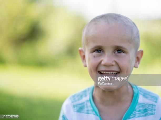 Little boy fighting cancer