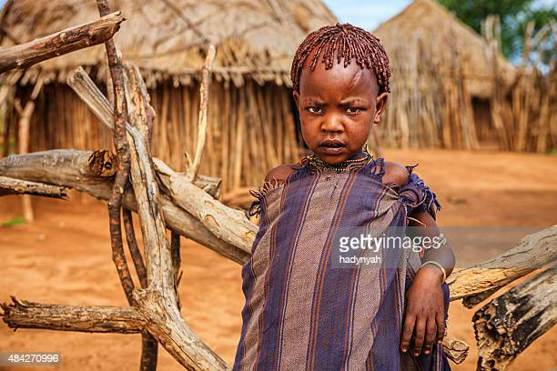 Little boy from Hamer tribe, Ethiopia, Africa