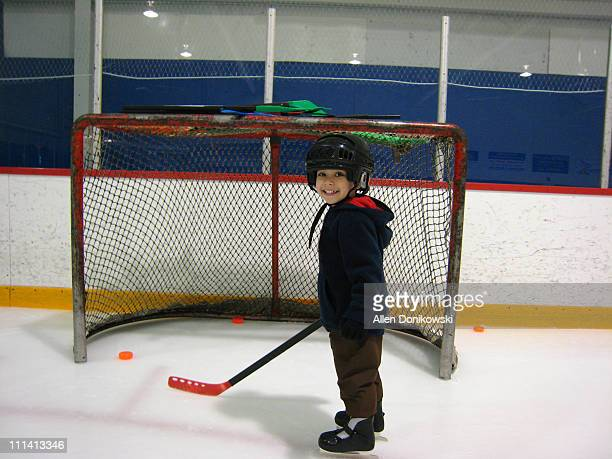 Little Boy Hockey Player Portrait