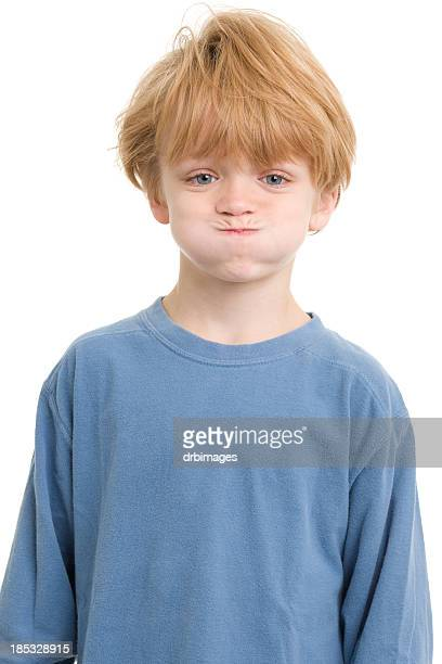 Little Boy Holding Breath