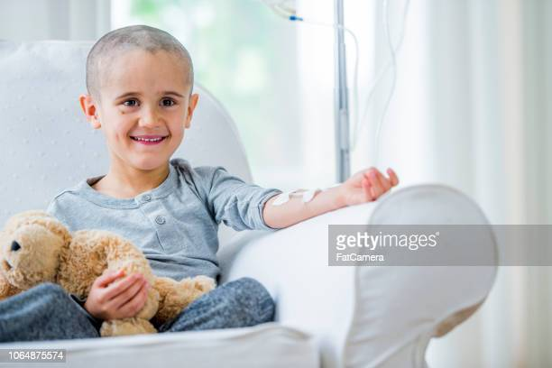 Little boy in cancer recovery