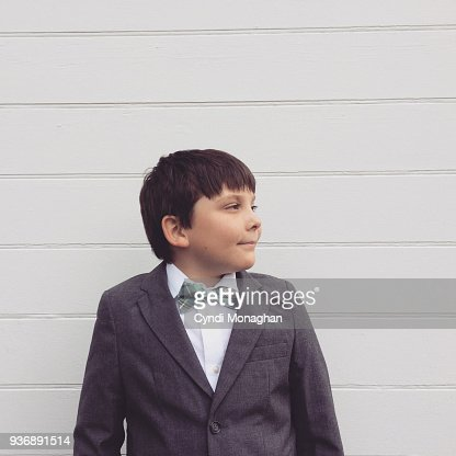 Little Boy in Easter Suit