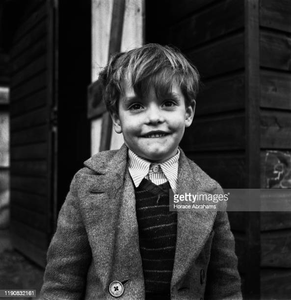 A little boy in England during World War II April 1941 From a special exploring the effect of the Blitz on the children of the UK