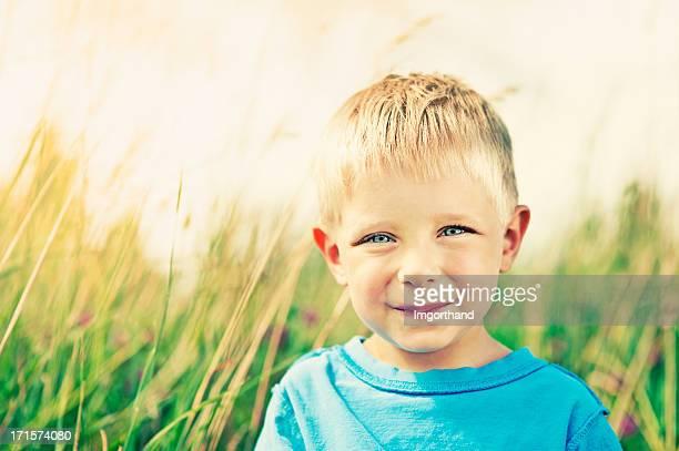 Little boy in grass