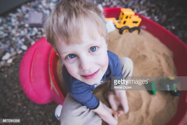 Little Boy in Sandbox