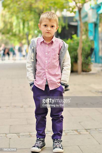 Little boy in the big city