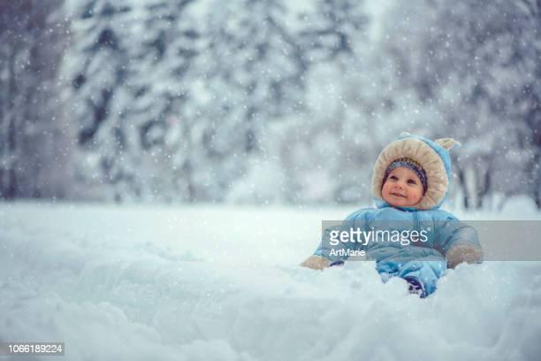 Kleiner Junge in Winter park