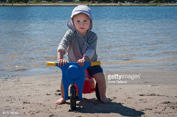 Little boy on a beach