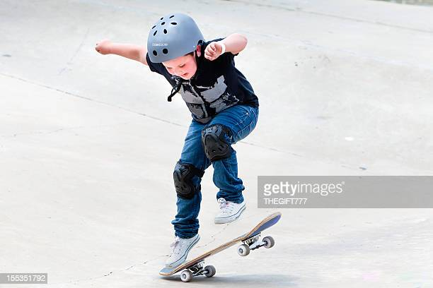 Little boy on his skateboard