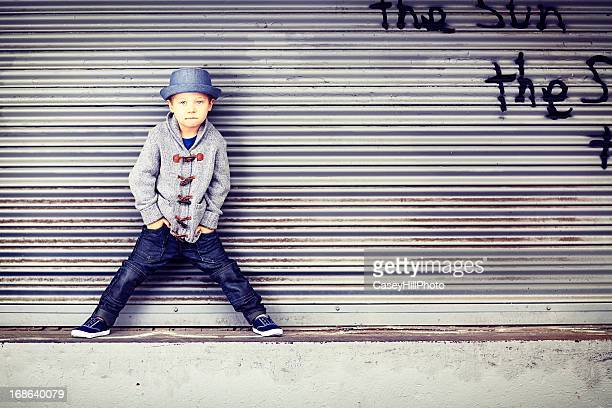 Little Boy on Loading Dock