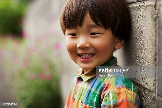 little boy on the wall - yonago stock pictures, royalty-free photos & images
