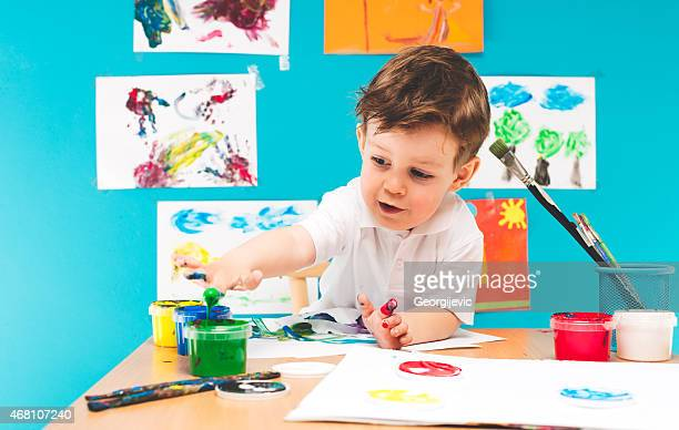 Kleine Junge Malerei