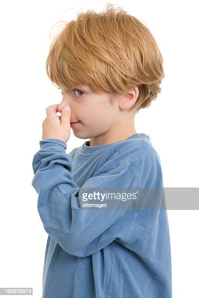 Little Boy Pinching Nose