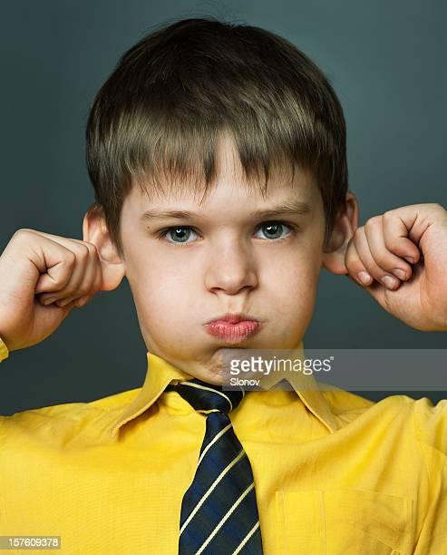 Little boy teases