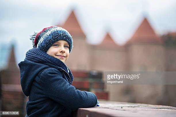 little boy visiting warsaw, poland - winter coat stock pictures, royalty-free photos & images