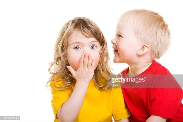 Little Boy whispering secret