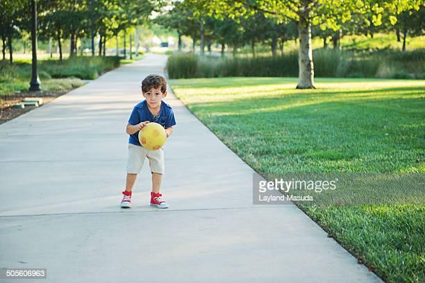 Little Boy With Ball