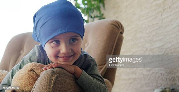 little boy with cancer in the hospital - cancer illness stock pictures, royalty-free photos & images