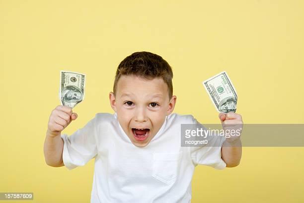 LIttle boy with cash