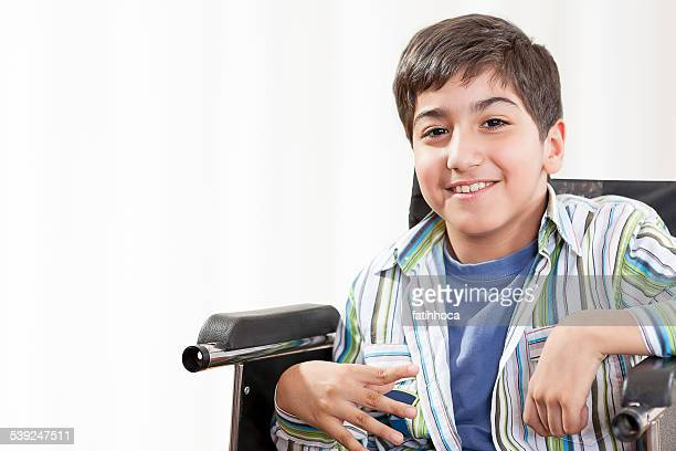 Little Boy With Cerebral Palsy