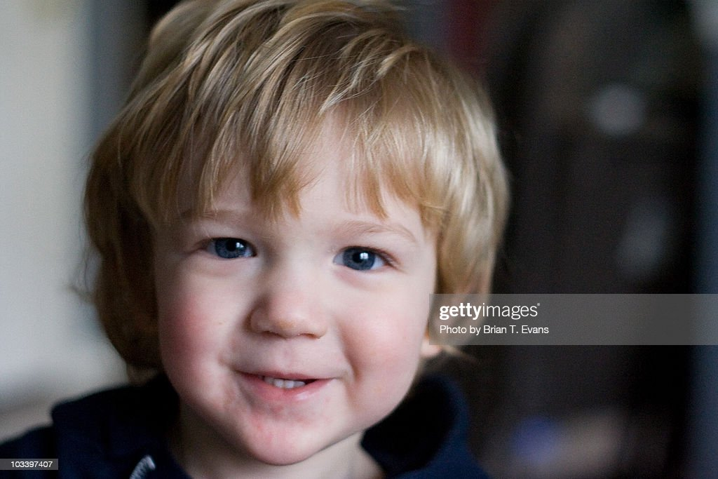 A Little Boy With Dirty Blonde Hair Stock Photo Getty Images