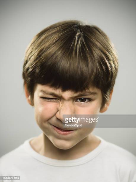 little boy with furious look - kid middle finger stock pictures, royalty-free photos & images