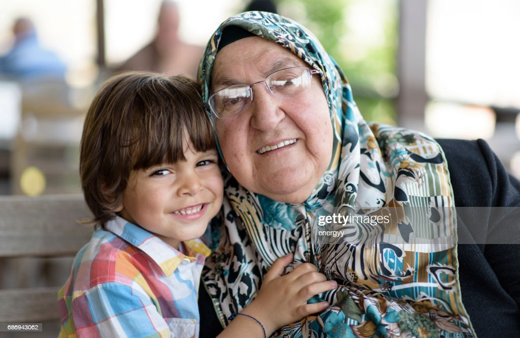 Little Boy With His Grandmother : Stock Photo