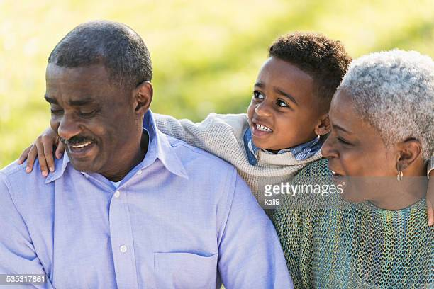 Little boy with his grandparents