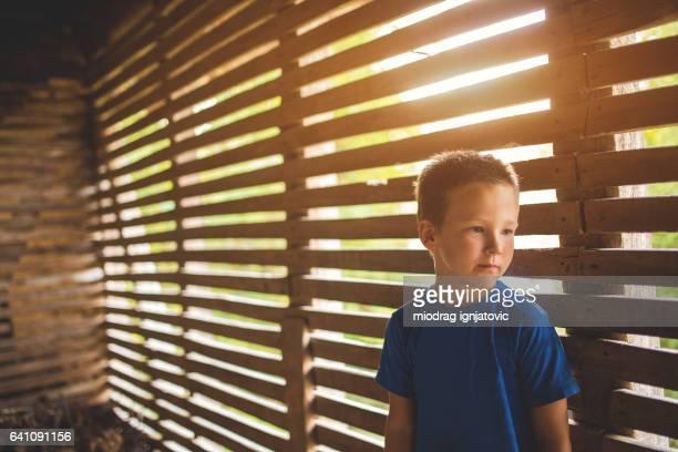 Little boy,isolated