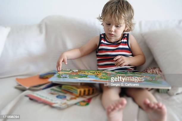 Little boy's library