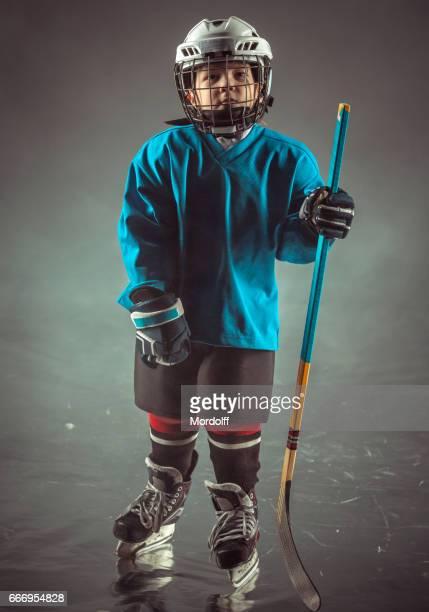 Little Brave Hockey Player