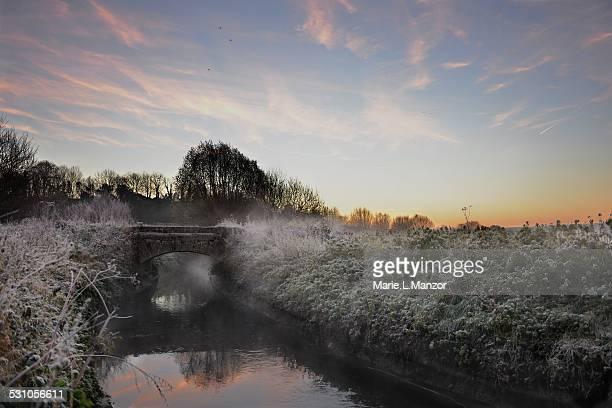 Little bridge at sunrise