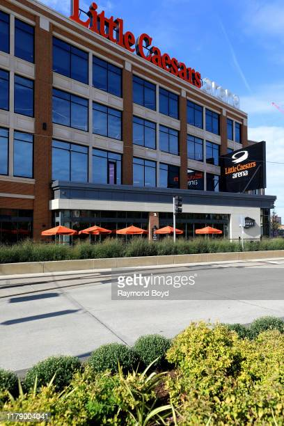Little Caesars Arena, home of the Detroit Red Wings hockey team and Detroit Pistons basketball team in Detroit, Michigan on September 27, 2019.