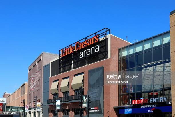 Little Caesars Arena, home of the Detroit Red Wings hockey team and Detroit Pistons basketball team in Detroit, Michigan on October 13, 2017.