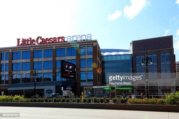 Little Caesars Arena home of the Detroit Red Wings hockey team and Detroit Pistons basketball team in Detroit Michigan on October 13 2017