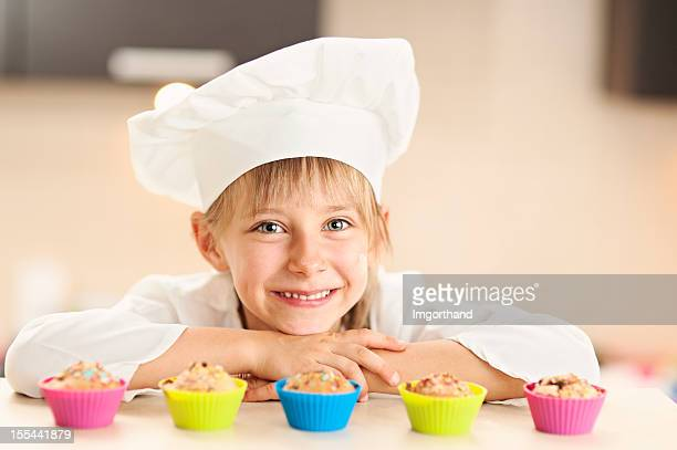 Little chef and her cupcakes