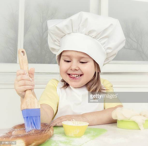 Little Chef At The Kitchen