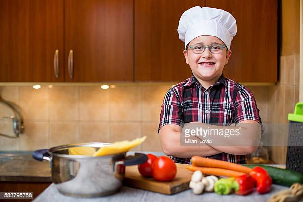 Little chef ready for cooking