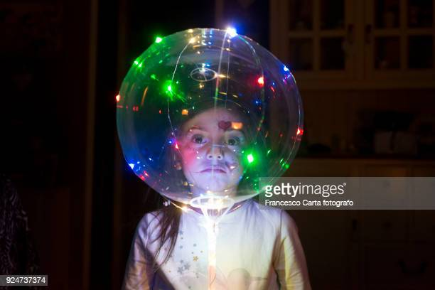 little child an her night games - a sense of home stock photos and pictures